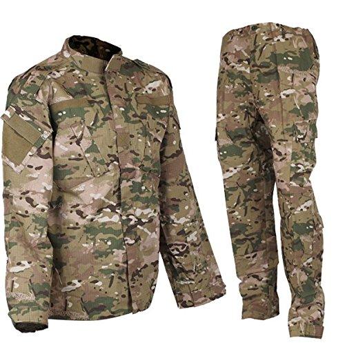 DLP Tactical BDU Combat Pants + Jacket Set 65/35 Poly/Cotton Rip Stop (Multicam, XXL)
