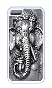 Big Face Ganesh TPU Case Cover for iPhone 5C White