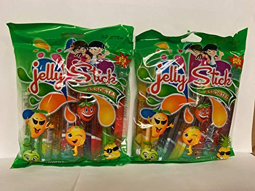 MDM JELLY STICK GEL CANDY 20PC 2 BAGS 14.1OZ (400G)