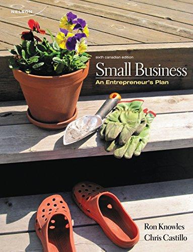 Small Business: An Entrepreneurs Plan