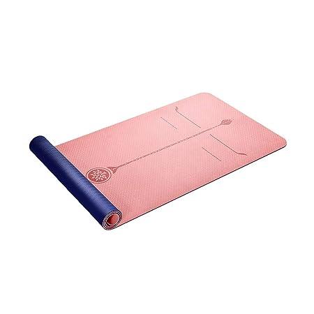 LWBUKK TPE Color sólido Antideslizante Estera de Yoga ...