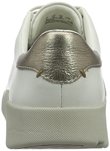 Leather Abby Clarks Sneakers Donna Bianco White Tri wfgwSxHqR