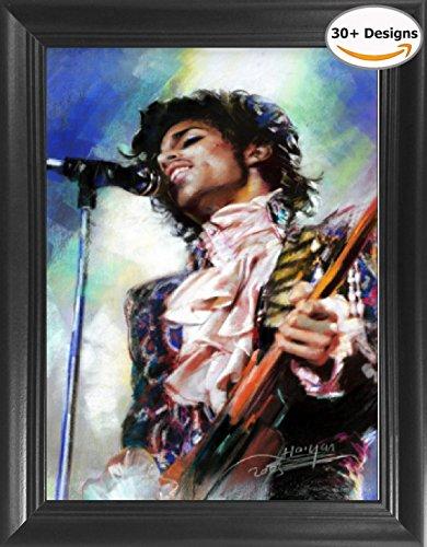 (Prince Hot Rock Pop Music Star Purple Rain Framed 3D Lenticular Picture - 14.5x18.5