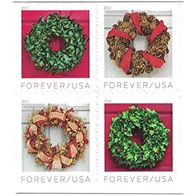 USPS Forever Holiday Wreaths - Book of 20 Postage Stamps: Toys & Games