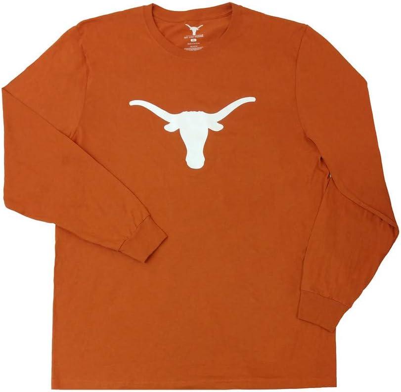 Elite Fan Shop Texas Longhorns Long Sleeve Tshirt Icon Orange