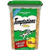 TEMPTATIONS Classic Treats for Cats Seafood Medley Flavor, 16 oz. Tub