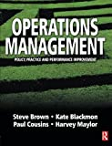 img - for Operations Management: Policy, Practice and Performance Improvement book / textbook / text book