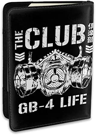 Bullet Club'sバレット・クラブ 新日本プロレスリング パスポートケース メンズ レディース パスポートカバー パスポートバッグ 携帯便利 シンプル ポーチ 5.5インチ PUレザー スキミング防止 安全な海外旅行用 小型 軽便