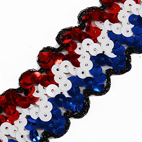 2yards Braided Multicolors Sequins Lace Ribbon Trim Applique Sewing Accessories for Craft Cloth T1542