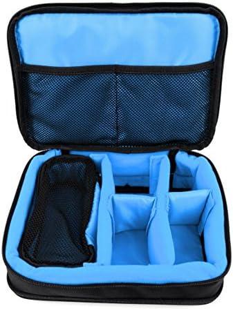 DURAGADGET Bolsa Acolchada Negra y Azul clarito Compatible ...