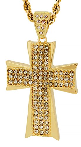 Hot new Gold Tone The Maltese Cross Men's Pendant with Free 30