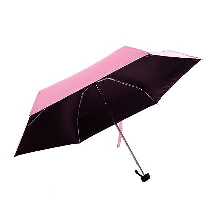 Zxzxzl Paraguas Plegable De Bolsillo Ultra Ligero Paraguas para El Sol Anti-UV Mini Bolsillo