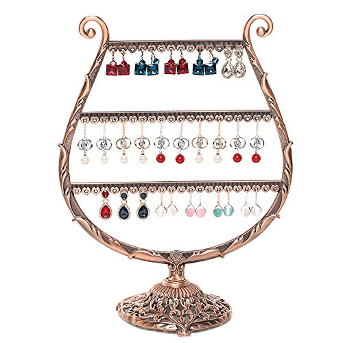 Ginasy Copper Metal Jewelry Display 9.45