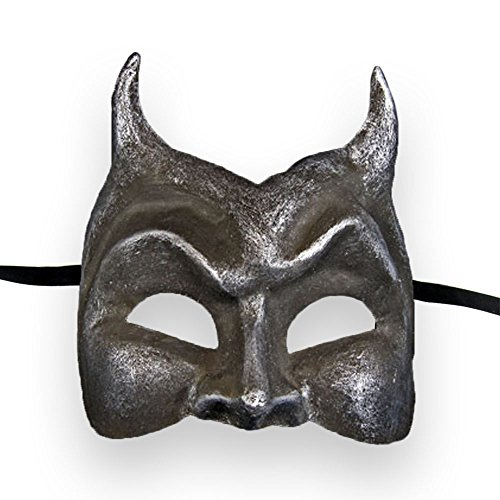VIVO Masks Mens Iron Devil Venetian Masquerade (Diavolo Halloween)