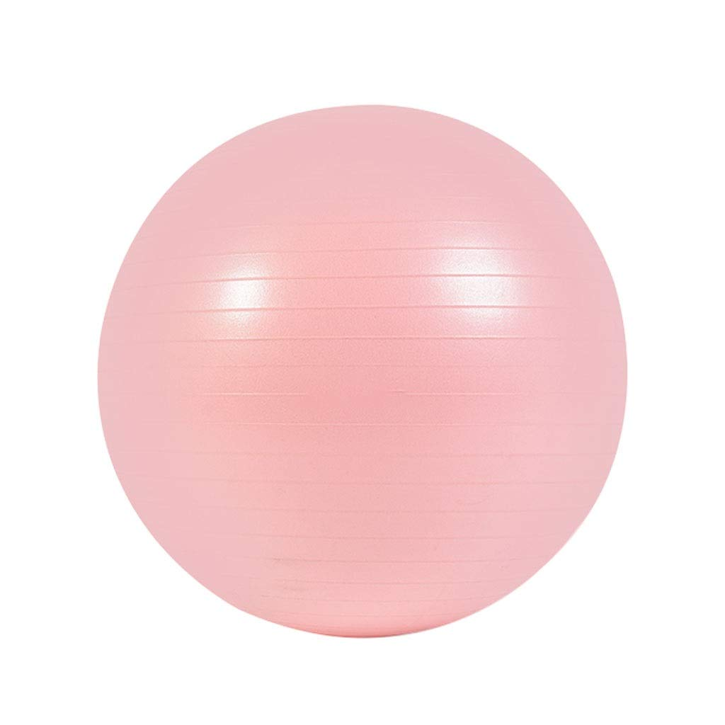 Anti-Burst Exercise Ball, Anti-Slip Gym Ball Stability Ball with Pump for Yoga Pilates Fitness Physical Therapy Gym and Home Exercise (Color : Pink, Size : 75cm)