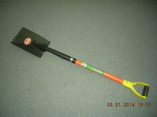 Roofing Shovel, Fiberglass Handle with Poly D Grip
