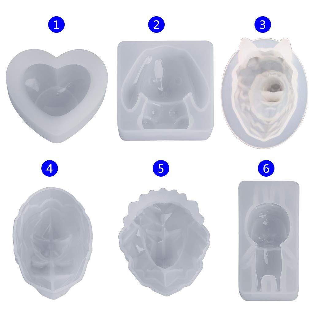 Fondente Specchio Kcibyvx stampi in Silicone a Forma di Animale di Leone Decorazione Fai da Te Cioccolato Torte Coniglio Bambola Resina epossidica. Gioielli Regali Artigianato