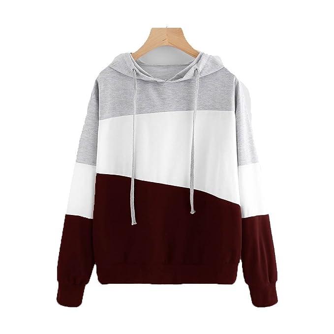 Kukul 2017 Sudaderas con Capucha Mujer - 2017 Hoodie Pullover Camiseta Blusa Tops de Manga Larga Empalme de Moda Basico Deportivo para Mujer Chica: ...