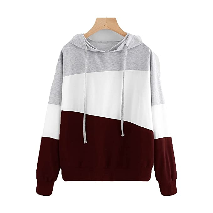 Kukul Nuevo Sudaderas con capucha Mujer - 2017 Hoodie Pullover Hot sale Patchwork Sweatshirt (S