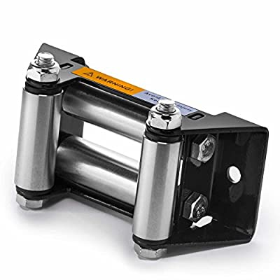 """ATV Winch Roller Fairlead 4 Way Cable Lead Guide 4 7/8"""" Bolt Pattern"""