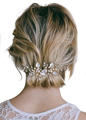Jewelry Sets & More Imported From Abroad Vintage Metal Leaves Pearl Hairpin Clips Girls Hair Accessories Hairpins Female Haar Accessoires Accesorios Para El Cabello #15 Hair Jewelry