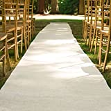 100 ft. x 3 ft. Wedding Aisle Runner Burlap White