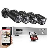 ZOSI 8 Channel High Definition Security Surveillance Camera System Black