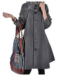BIUBIU Women's Long Sleeve Cowl Neck Button Down Loose Trendy Sweater Dress