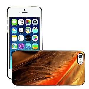 Super Stellar Slim PC Hard Case Cover Skin Armor Shell Protection // M00051012 macro aero feather orange // Apple iPhone 5 5S