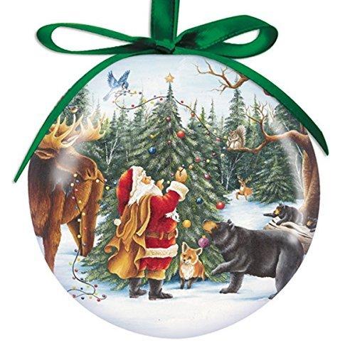 Cape Shore 3'' Santa with Animals Ball Ornament