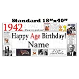 1942 PERSONALIZED 75TH BANNER