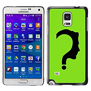 Planetar® ( The Riddler ) Samsung Galaxy Note 4 IV / SM-N910F / SM-N910K / SM-N910C / SM-N910W8 / SM-N910U / SM-N910G Fundas Cover Cubre Hard Case Cover