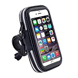 Black Touch Screen Bike Mount Waterproof Phone GPS Case Bike Bicycle Handlebar Holder Bag for iPhone 8 Plus / iPhone X / Samsung Galaxy Note 8 / S8 Plus / S8 Active / J7 Pro / HTC U11 / HTC U Ultra