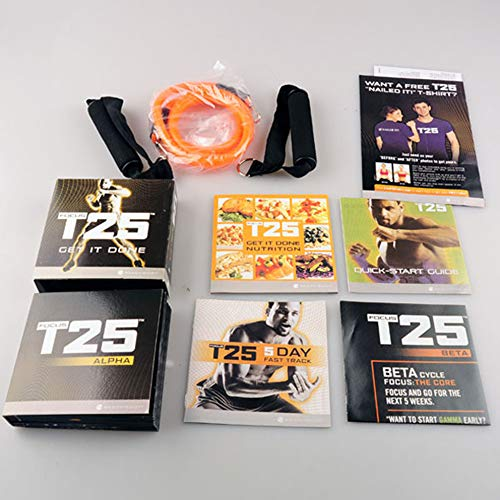 rdns18er1e5 T25 Shaun T's 10 DVD Workout Program | Comprehensive Fitness Guide & Nutrition Plan Included
