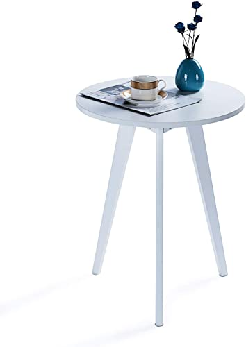 9 Plus Round Side Table Wooden End Table Accent Coffee Table