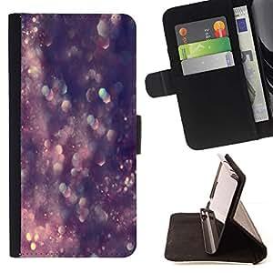 For Sony Xperia Style T3 Case , Brillo Bling Bling Purple Crystal- la tarjeta de Crédito Slots PU Funda de cuero Monedero caso cubierta de piel