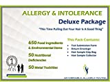 Affordable Allergy Test | Food Intolerance, Environmental Allergen, Nutrition Deficiency and Metal Toxicity Test Kit | Over 750 Items Tested | Deluxe Package | 1 Pack