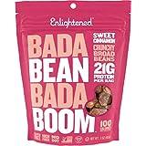 Enlightened Bada Bean Bada Boom Plant Protein Gluten Free Roasted Broad (Fava) Bean Snack, Sweet Cinnamon, 6 Count