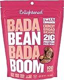 Enlightened Bada Bean Bada Boom Plant Protein Gluten Free Roasted Broad (Fava) Bean Snack, Sweet Cinnamon 3oz (Pack of 6)
