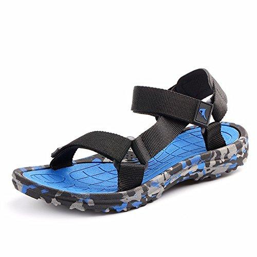 Das neue Tarnung Männer Sandalen Sommer Freizeit Strand Schuh Sandalen Atmungsaktiv Männer Schuh Trend ,blau,US=10,UK=9.5,EU=44,CN=46