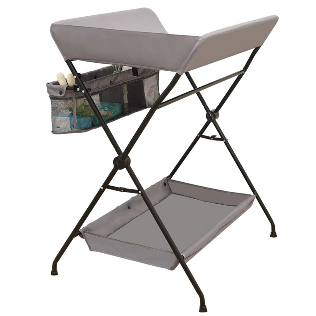 QZ® Portable Baby Changing Tables With Storage, Nursery Dressers For Small Spaces Schools (Color : GRAY) qiangzi