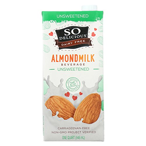So Delicious Dairy Free Almond Milk Beverage -Unsweetened - Case of 6-32 fl ()