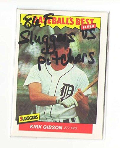 1986 Fleer Sluggers vs Pitchers DETROIT TIGERS Team Set