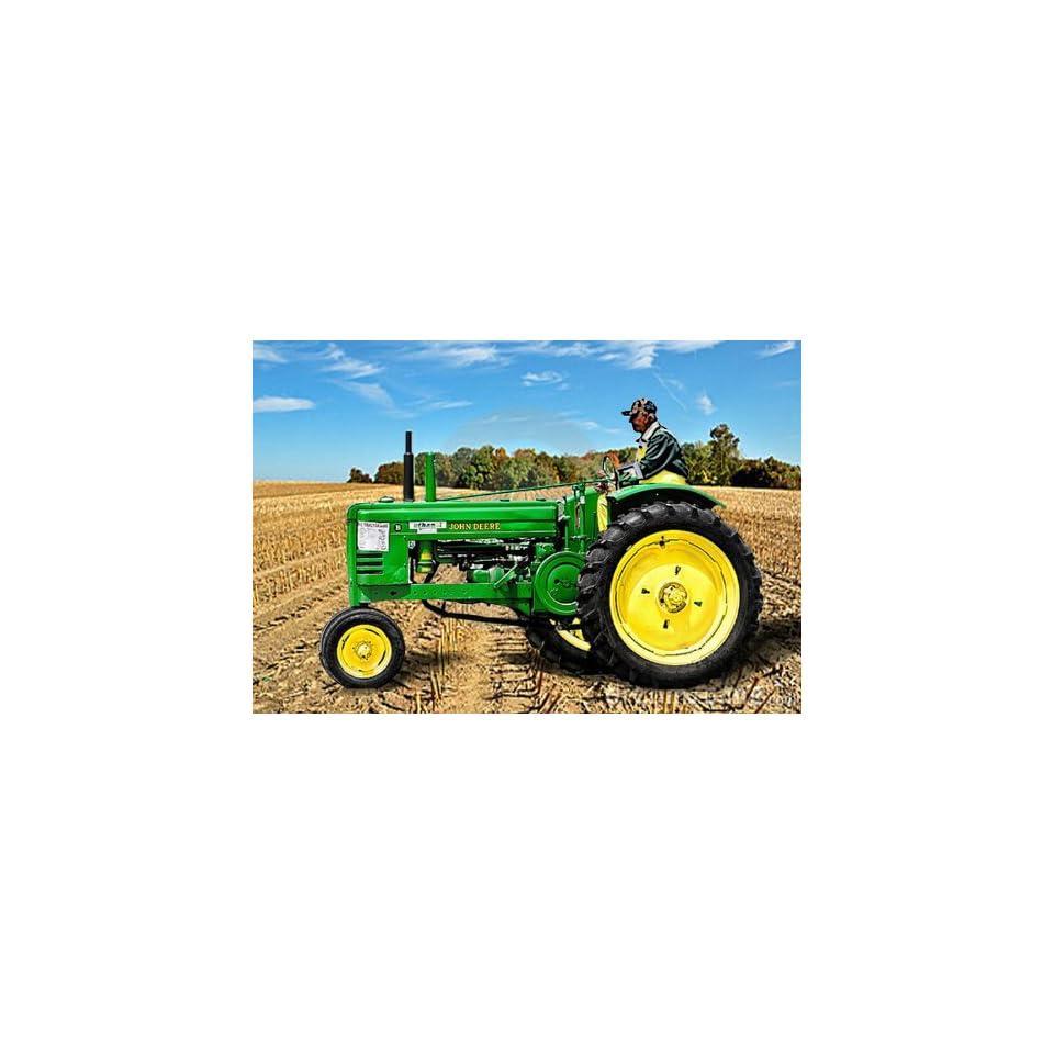 John Deere Tractor in Field Counted Cross Stitch Pattern on a CD