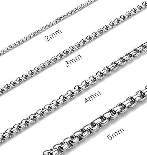 reizteko 2–7mm, 16–38en cuadrado cadena de acero inoxidable Rolo collar caja redonda collar de hombres...