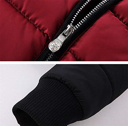 Coat Sleeve Slim Quilted Warmth Jacket Winter Sport Long Apparel Men Stand Jacket Jacket Jacket Jacket Collar Rot Quilted Men's Rmen Jacket Outwear Bomber Fit Thick UAFxqUZBw