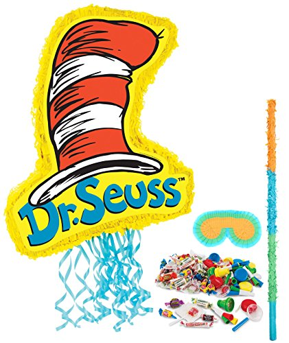 BirthdayExpress Dr Seuss Cat in The Hat Party Supplies Pinata Kit -