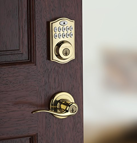 Kwikset SmartCode 914 Z-Wave Deadbolt with Home Connect, Lifetime Polished Brass