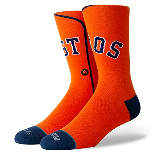 - Stance M545A19AST Men's ASTROS ALT JERSEY 2 Crew Socks, Orange - M