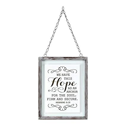 Amazon.com: We Have This Hope 7 x 5 Framed Glass Wall Art: Posters ...